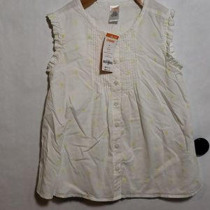 Gymboree New white and yellow blouse